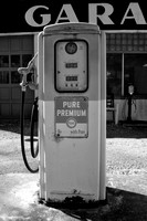 Cuyahoga Valley Pure Gas Station (3) - Infrared B&W
