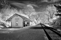 Indigo Lake Rail Station - Infrared B&W