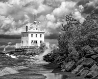 Fairport Harbor Lighthouse - Infrared B&W