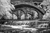Railroad Trestle - Berea Falls - Infrared B&W