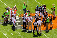 Bernie Kosar and Webster Slaughter - Honorary Captains Browns Home Opener 2012