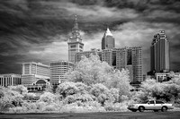 Cleveland Tower City ffrom the Flats - Infrared B&W