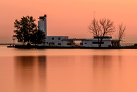 Abandoned Coast Guard Station at Sunrise from Wendy Park