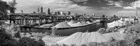 Cleveland - Cuyahoga River and Stone Docks - Panorama - Infrared