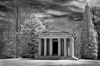 Lakeview Cemetery -  Mausoleum (2) -  - Infrared B&W
