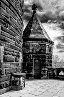 Lakeview Cemetery - Garfield Memorial (3)  - Infrared B&W
