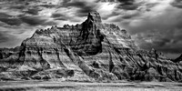 Badlands - Panorama Point at Dusk - Infrared B&W