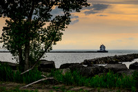 Lorain Lighthouse at Sunset 1 of 5