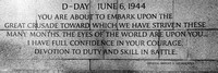 World War II Memorial - June 6, 1944