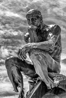 The Thinker - Infrared B&W