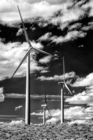 Wyoming Wind Turbines - Infrared B&W