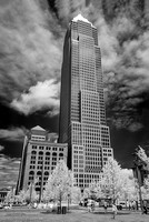 Cleveland Public Square - Key Tower - Infrared B&W