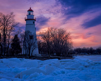 Marblehead Lighthouse - A view From the Ice on Lake Erie