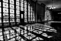 Ellis Island - The Great Hall (2) B&W