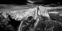 Half Dome in the Late Afternoon at Glacier Point - Infrared B&W