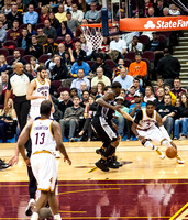 Kyrie Irving Drives the Baseline