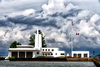 Coast Guard Station on Cloudy Day