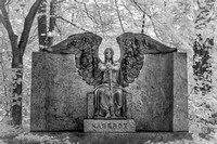 Lakeview Cemetery - Haserot Angel Summer - Infrared B&W