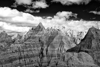 Badlands - Panorama Point (3)- Infrared B&W