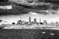 Storm Over Cleveland - Infrared B&W