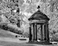 Lakeview Cemetery - Six Pillar Memorial Dome - Infrared B&W