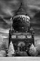 Lakeview Cemetery - Garfield Memorial (1) - Infrared B&W