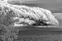 Storm Cloud Over Lake Erie - Infrared B&W