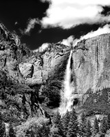 Yosemite Falls (Upper) - Infrared B&W