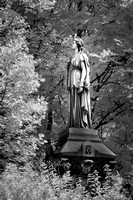 Lakeview Cemetery - Sculpture in the Trees - Infrared B&W