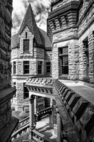 Mansfield Reformatory - Looking Out From an Office - Infrared B&W