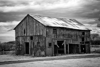 Roadside Barn Ohio (2) - Infrared B&W