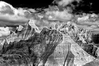 Badlands - Panorama Point (1) - Infrared B&W